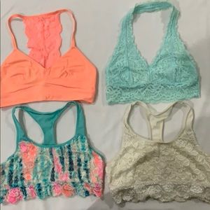 Lot of 4 Justice Sports Bras